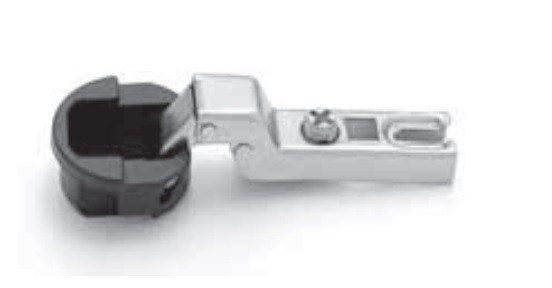 FGV QS Mini half inlay hinge for glass door 105° without base