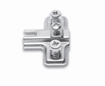 FGV QS Mini base for glass door hinge, with Euro screw - H-0