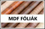 MDF fóliák